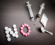 Διεθνής κανένα φάρμακο και ιατρικός Στοκ Εικόνα
