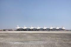 διεθνής κεντρικός αγωγός εξεδρών επισήμων κυκλωμάτων του Μπαχρέιν Στοκ φωτογραφία με δικαίωμα ελεύθερης χρήσης