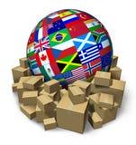 διεθνής μεταφορά φορτίου ελεύθερη απεικόνιση δικαιώματος