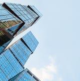 Διεθνής Μόσχα-πόλη εμπορικών κέντρων της Μόσχας ουρανοξυστών Στοκ Φωτογραφίες