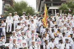 19 11 2017 διεθνής ναυτική, διεθνής παρέλαση επετείου της ASEAN ` s 50 αναθεώρησης 2017 στόλου σε Pattaya, Ταϊλάνδη Στοκ φωτογραφίες με δικαίωμα ελεύθερης χρήσης