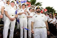 19 11 2017 διεθνής ναυτική, διεθνής παρέλαση επετείου της ASEAN ` s 50 αναθεώρησης 2017 στόλου σε Pattaya, Ταϊλάνδη Στοκ Φωτογραφία
