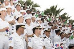 19 11 2017 διεθνής ναυτική, διεθνής παρέλαση επετείου της ASEAN ` s 50 αναθεώρησης 2017 στόλου σε Pattaya, Ταϊλάνδη Στοκ φωτογραφία με δικαίωμα ελεύθερης χρήσης