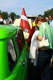 Διεθνής παλαιά συνάθροιση «Ρήγα αναδρομικό» το 2013 μηχανοκίνητων οχημάτων Στοκ φωτογραφία με δικαίωμα ελεύθερης χρήσης