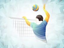 Διεθνής πετοσφαίριση, πετοσφαίριση ζωντανή, πετοσφαίριση παιχνιδιού, πετοσφαίριση γυναικών, φορέας πετοσφαίρισης στοκ εικόνα με δικαίωμα ελεύθερης χρήσης