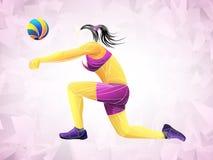 Διεθνής πετοσφαίριση, πετοσφαίριση ζωντανή, πετοσφαίριση παιχνιδιού, πετοσφαίριση γυναικών, φορέας πετοσφαίρισης στοκ εικόνες