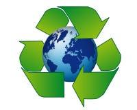 Διεθνής ρεαλιστική μπλε ανακύκλωση σφαιρών Στοκ φωτογραφία με δικαίωμα ελεύθερης χρήσης