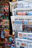 Διεθνής στάση εφημερίδων στην Ευρώπη Στοκ Εικόνα