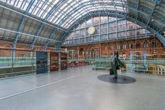 διεθνής σταθμός UK του ST pancras του Λονδίνου Στοκ φωτογραφία με δικαίωμα ελεύθερης χρήσης