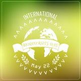 Διεθνής τυπογραφία έννοιας υποβάθρου ημέρας βιοποικιλότητας απεικόνιση αποθεμάτων