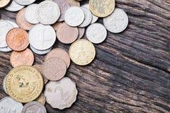 Διεθνή μικτά νομίσματα Στοκ Φωτογραφία