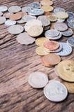 Διεθνή μικτά νομίσματα Στοκ φωτογραφίες με δικαίωμα ελεύθερης χρήσης
