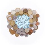 Διεθνή νομίσματα χρημάτων Στοκ Εικόνες