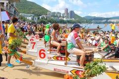 Διεθνή πρωταθλήματα 2015 βαρκών δράκων Χονγκ Κονγκ Στοκ φωτογραφία με δικαίωμα ελεύθερης χρήσης