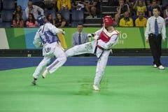 Διεθνή πρωταθλήματα Taekwondo στο Ρίο - JPN εναντίον CHN Στοκ φωτογραφίες με δικαίωμα ελεύθερης χρήσης