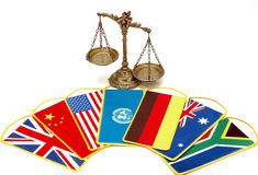 Διεθνείς νόμος και δικαιοσύνη Στοκ εικόνα με δικαίωμα ελεύθερης χρήσης