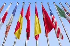 Διεθνείς σημαίες Στοκ φωτογραφία με δικαίωμα ελεύθερης χρήσης