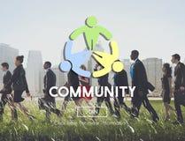 Διεθνοποιημένη κοινοτική έννοια δικτύων σύνδεσης ενότητας Στοκ Φωτογραφία