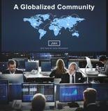 Διεθνοποιημένη κοινοτική έννοια δικτύων σύνδεσης ενότητας Στοκ Εικόνα