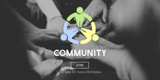 Διεθνοποιημένη κοινοτική έννοια δικτύων σύνδεσης ενότητας Στοκ εικόνα με δικαίωμα ελεύθερης χρήσης
