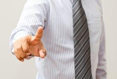 Διεπαφή οθόνης αφής επιχειρησιακών χεριών Στοκ εικόνα με δικαίωμα ελεύθερης χρήσης