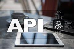 Διεπαφή προγραμματισμού εφαρμογής API Έννοια ανάπτυξης λογισμικού Στοκ φωτογραφίες με δικαίωμα ελεύθερης χρήσης