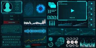 Διεπαφή HUD UI για την επιχείρηση app ελεύθερη απεικόνιση δικαιώματος