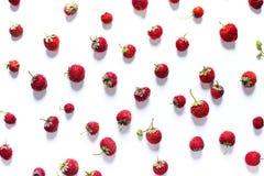 Διεσπαρμένη φράουλα που απομονώνεται άσπρο σε υγιή Στοκ Εικόνες