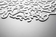 Διεσπαρμένοι ξύλινοι αριθμοί Στοκ Εικόνα