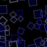 Διεσπαρμένο μπλε τετραγώνων Στοκ εικόνα με δικαίωμα ελεύθερης χρήσης
