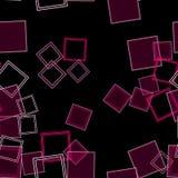 Διεσπαρμένο ροζ τετραγώνων Στοκ φωτογραφία με δικαίωμα ελεύθερης χρήσης