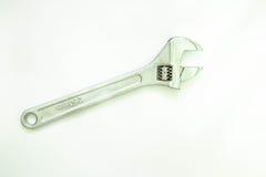 Διευθετήσιμο γαλλικό κλειδί στο απομονωμένο υπόβαθρο Στοκ Εικόνες