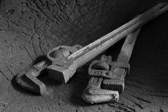 Διευθετήσιμο γαλλικό κλειδί σωλήνων υδραυλικών Στοκ φωτογραφίες με δικαίωμα ελεύθερης χρήσης