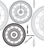 Διευθετήσιμο, εκλεκτής ποιότητας ρολόι με τα χωρισμένα χέρια απεικόνιση αποθεμάτων