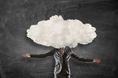 Διευθυνμένη σύννεφο γυναίκα Μικτά μέσα Στοκ Εικόνες