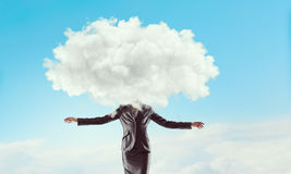 Διευθυνμένη σύννεφο γυναίκα στοκ εικόνες