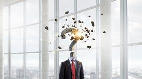 Διευθυνμένος ερώτηση επιχειρηματίας Στοκ Εικόνες