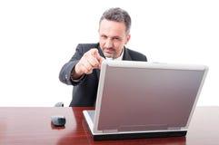 Διευθυντής επιχείρησης που δείχνει το δάχτυλο σε σας Στοκ Εικόνα