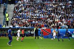 Διευθυντής ποδοσφαίρου του Antonio Conte Ιταλία Στοκ Εικόνες