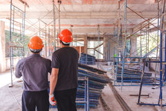 Διευθυντής στο εργοτάξιο οικοδομής Στοκ Φωτογραφίες