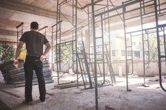 Διευθυντής στο εργοτάξιο οικοδομής Στοκ φωτογραφίες με δικαίωμα ελεύθερης χρήσης