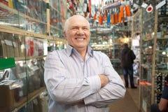 Διευθυντής στο κατάστημα μερών αυτοκινήτου Στοκ Εικόνες