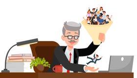 Διευθυντής ωρ. που επιλέγει τη διανυσματική απεικόνιση υποψηφίων απεικόνιση αποθεμάτων