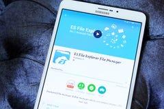 Διευθυντής app αρχείων εξερευνητών αρχείων ES Στοκ εικόνα με δικαίωμα ελεύθερης χρήσης