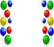 Διευκρινισμένα και ζωηρόχρωμα μπαλόνια Στοκ φωτογραφία με δικαίωμα ελεύθερης χρήσης