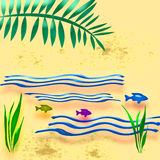 διευκρινισμένες παραλία διακοπές Στοκ Εικόνα