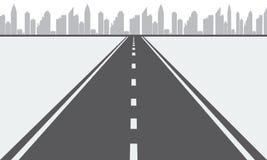 Διευκρινισμένος διανυσματικός δρόμος στην αστική πόλη Στοκ εικόνα με δικαίωμα ελεύθερης χρήσης