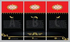 Διευκρινισμένο εκλεκτής ποιότητας πρότυπο σχεδίου φυλλάδιων και ιπτάμενων Στοκ Φωτογραφίες
