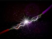 διεύθυνση της ηλεκτρικής ενέργειας διανυσματική απεικόνιση
