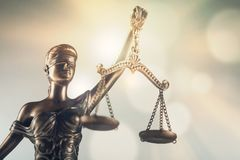 Δικαιοσύνη αγαλμάτων στοκ εικόνα με δικαίωμα ελεύθερης χρήσης